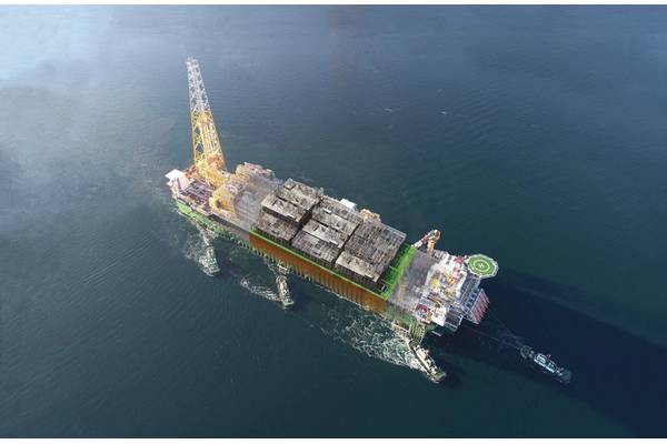 Total EGINA FPSO digital twin sail away. Image: BV