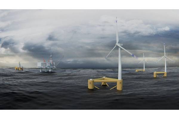 Norwegian offshore drilling contractor Odfjell Drilling has invested in Oceanwind, a developer of harsh environment floating wind turbines, which is planned to enable zero-emission offshore drilling. Photo: Odfjell