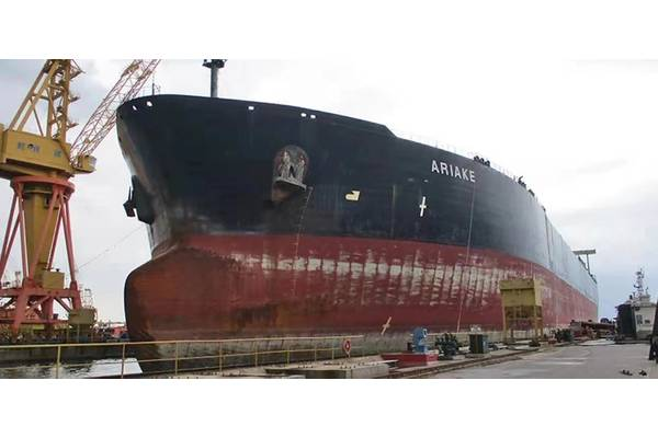 Oil Tanker, ARIAKE ready for Conversion. (Photo courtesy Cummins/Haig-Brown)