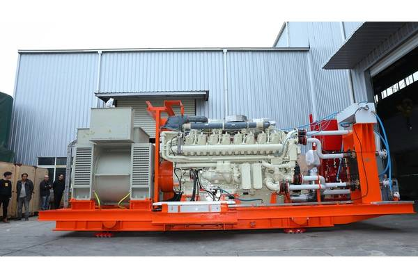 QSK95 Genset ready for shipping. (Photo courtesy Cummins/Haig-Brown)