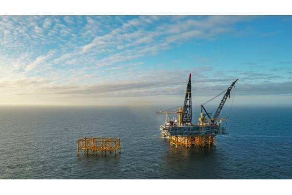 The riser platform is one of four platforms that make up the field centre on the Johan Sverdrup field in Phase 1 of the project Photo credit Statoil