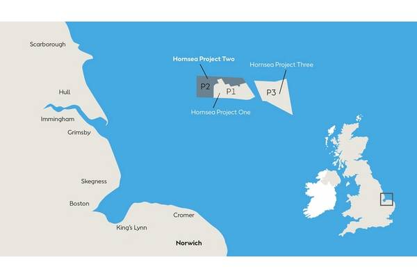 Hornsea Project Two. Image courtesy of Ørsted AS